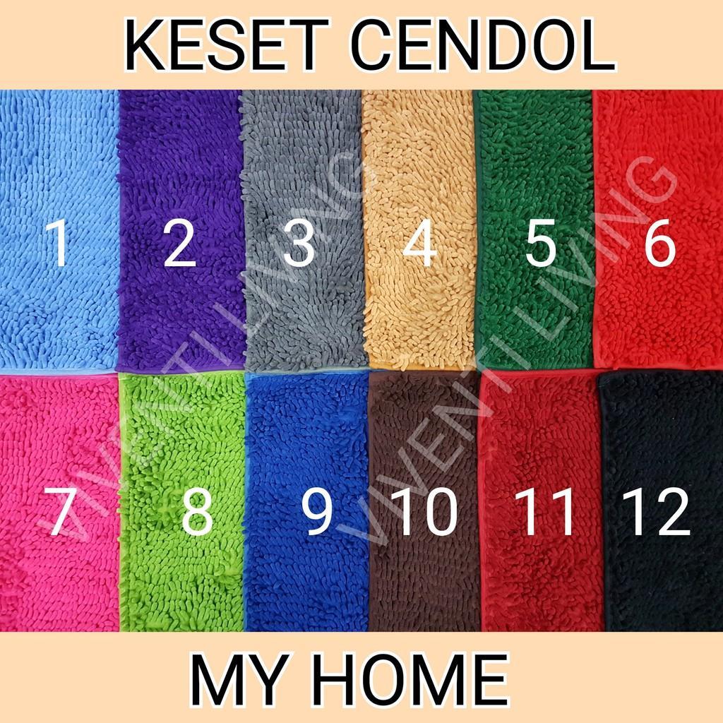 ... KESET CENDOL DOFF MY HOME Microfiber Dov Door Mat Murah Alas Polos Anti Slip