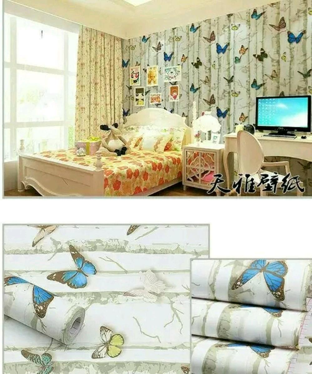 Kehebatan Premium Quality Luxurious Wallpaper Dinding Paris Dan Lux 5 22 Prb Sticker Kupu