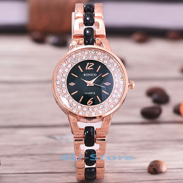 Bonico-4U-Jam Tangan Fashion Wanita-81951-RGW-Body Rose Gold