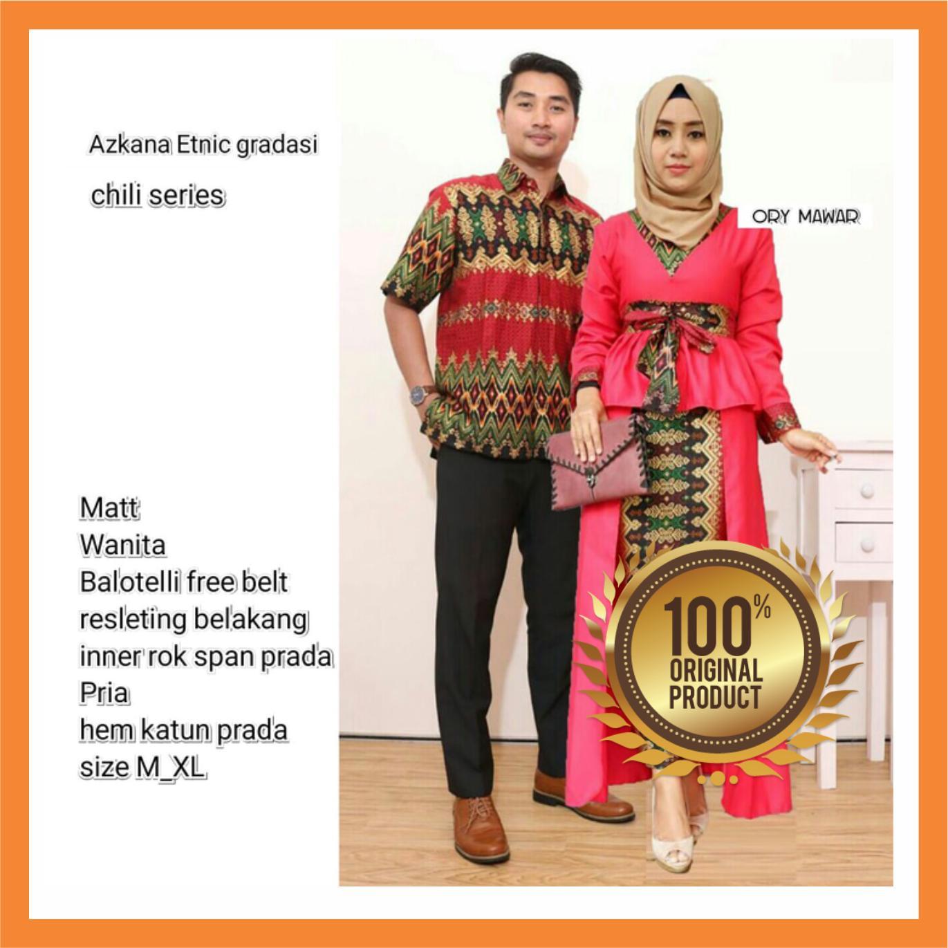Kehebatan Alb Couple Syari Batik Katrina Hitam Couple Suami Istri