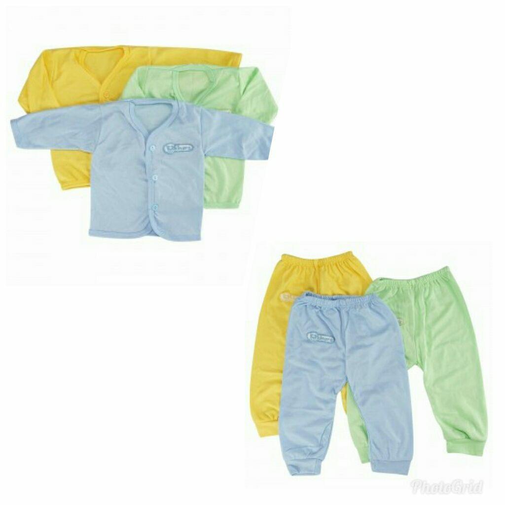 Kehebatan Paket Baselayer Baju Dan Celana Renang Longsleeve Manset Panjang Stelan Kinara Bayi Lahir Lengan 3pcs