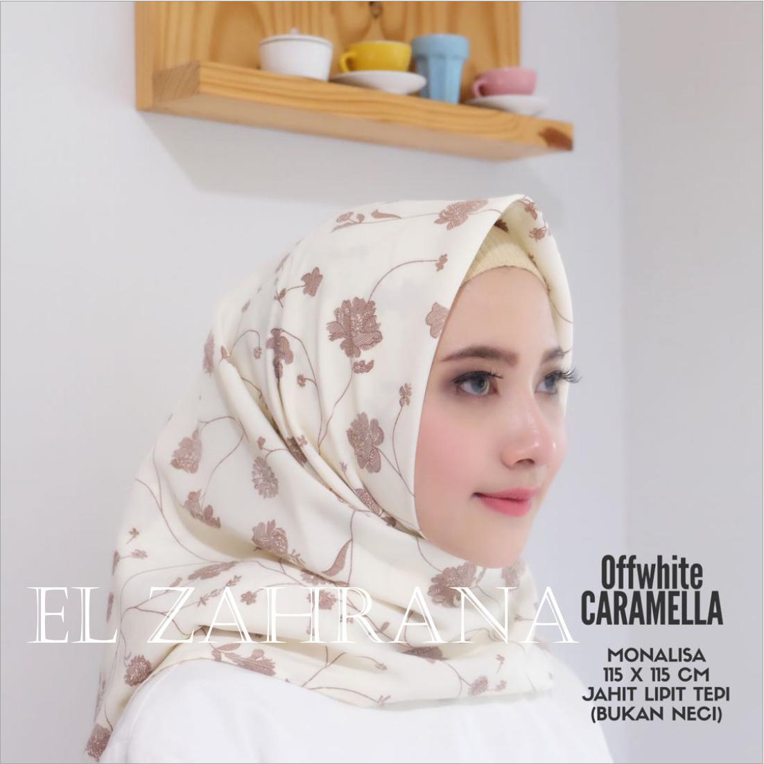 El Zahrana Hijab - Kerudung Segi Empat - Jilbab Motif Premium - Hijab Segi Empat -