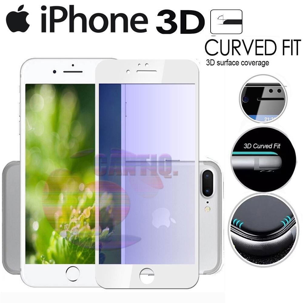 Tempered Glass Full Screen White iPhone 7 Plus 9H Screen Anti Gores Kaca / Screen Guard