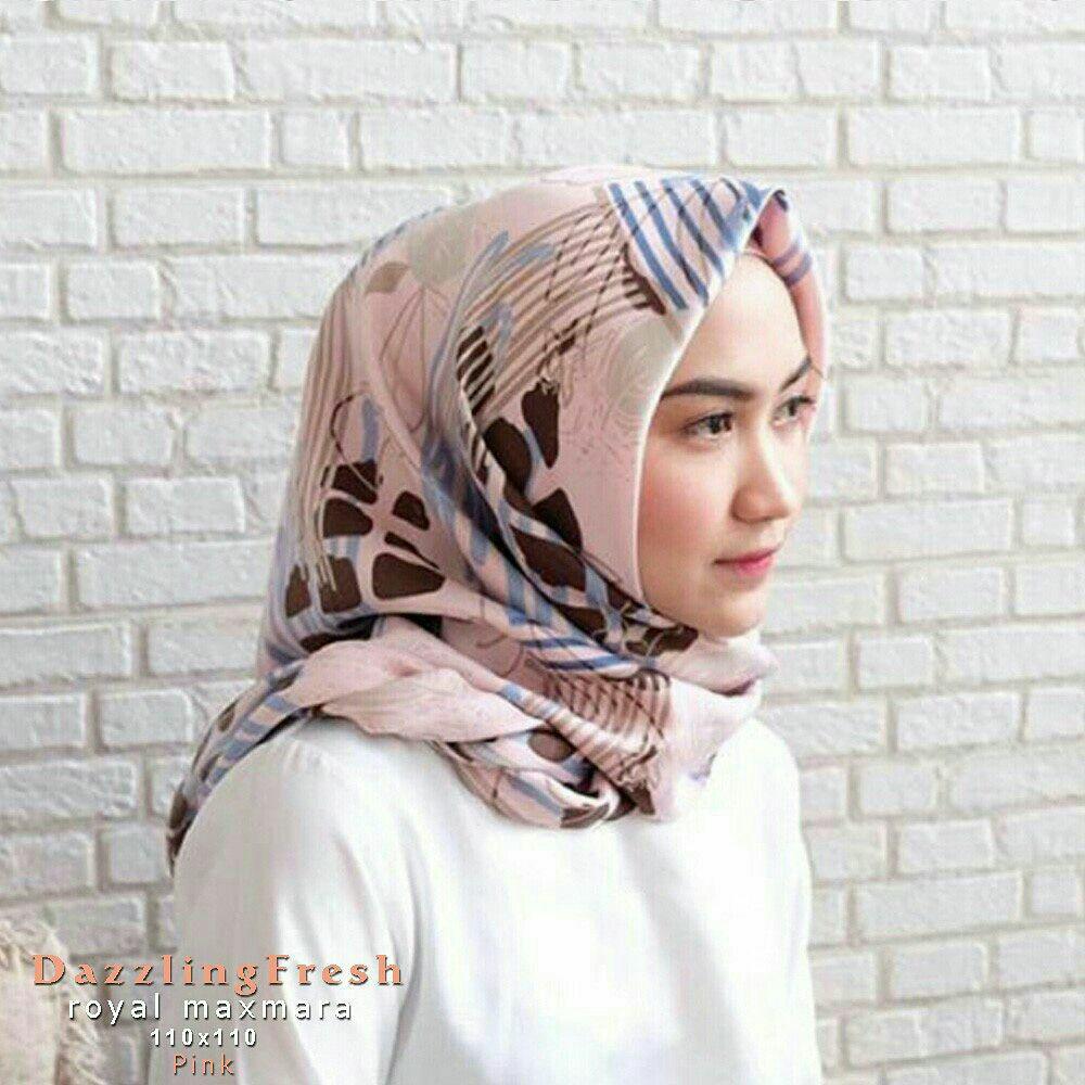 Kehebatan Hijab Maxmara Motif Flamingo Segiempat Angsa Flamingo