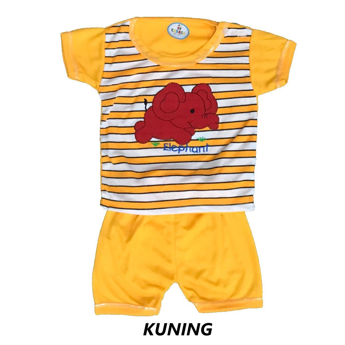 BAYIe - Setelan Kaos Oblong Lengan Pendek Bayi KADASO umur 4 - 18 bulan