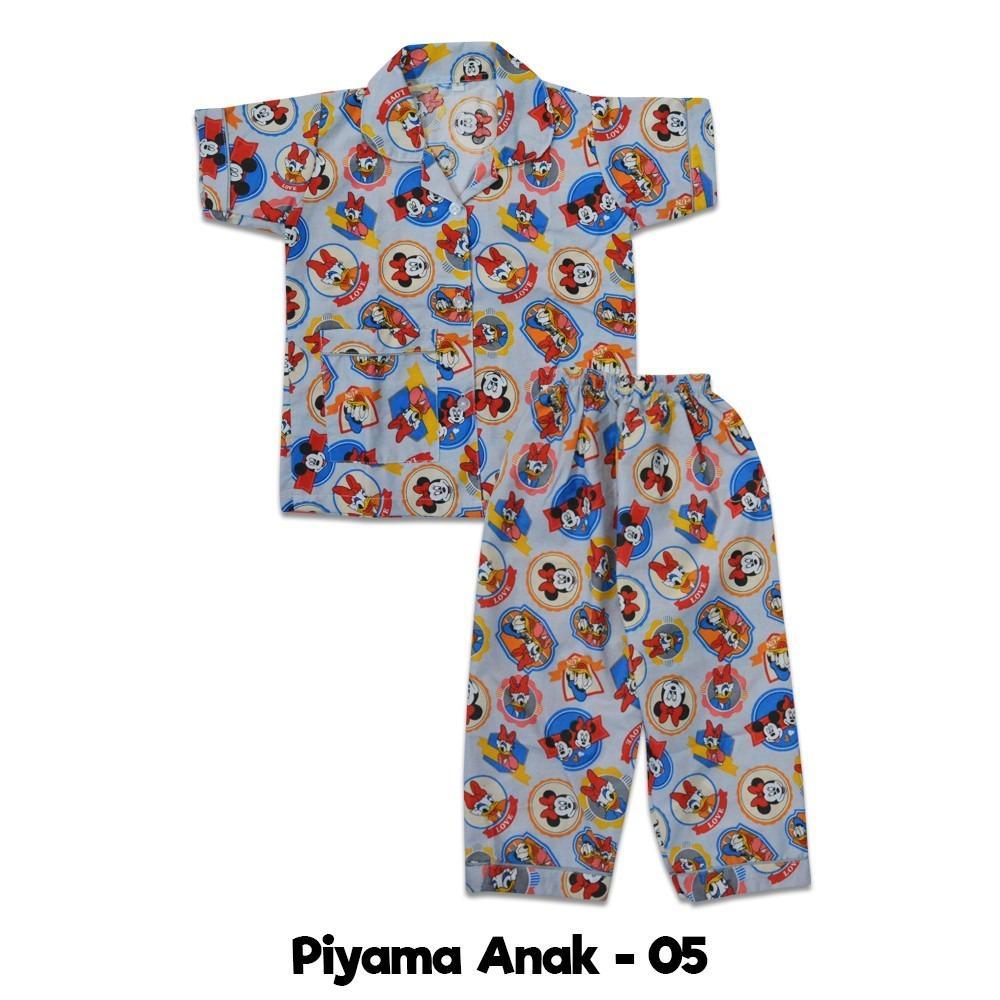 Bebikita Nice Baby Piyama Anak Pendek / Piyama Anak Karakter / Baju Tidur Anak / Baju