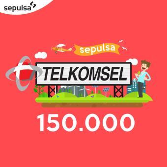 Telkomsel Pulsa 150.000 (Max. 1 kali Pembelian Per Nomor Handphone)