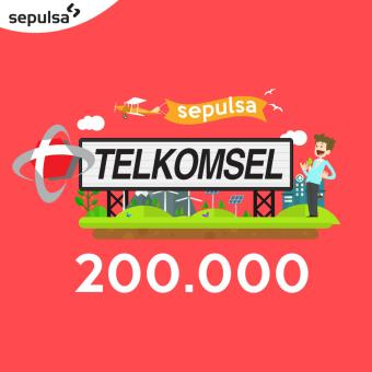 Telkomsel Pulsa 200.000 (Max. 1 kali Pembelian Per Nomor Handphone)