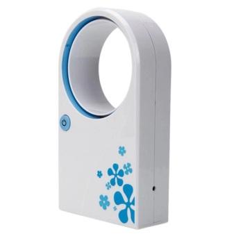harga Mini Fan USB Portable Bladeless No Leaf Air-Condition Fan / Kipas Angin Tanpa Baling-Baling - Putih Lazada.co.id