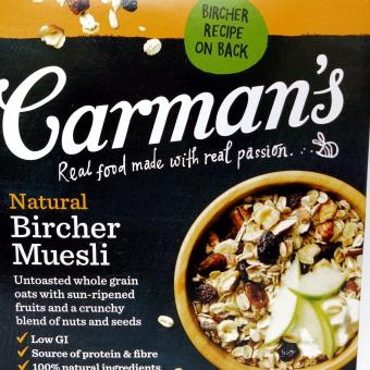 Carman's Natural Bircher Muesli (inc Oat+Grains) 500g Sereal