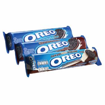 [Oreo Best Seller] Oreo Vanilla 137gr + Cokelat 137gr + Dark & White Chocolate 137gr