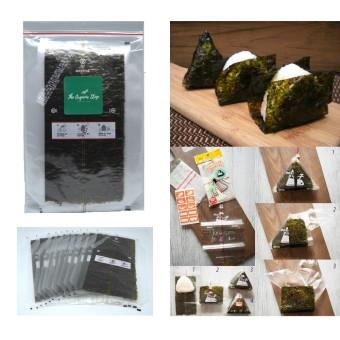 TheOrganicStop Manjun Triangle Onigiri Sushi Nori Seaweed Rumput Laut 10 lembar