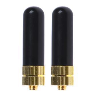 2 buah SRH805S SMA - F perempuan ganda Band antena untuk Baofeng GT-3 UV