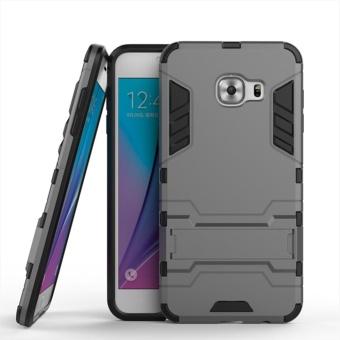 Armor 2 In 1 PC dan TPU Lembut Kantong Gas Stand Back Case Cover untuk Samsung
