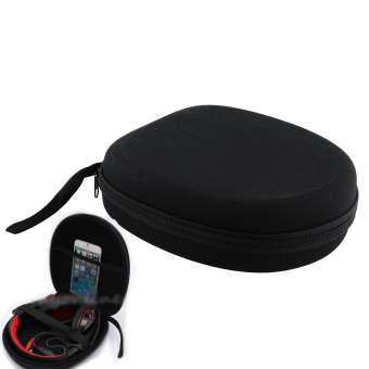 Black Carrying Hard Case Storage Bag box For Sony headset EarphoneHeadphone - intl