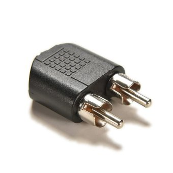 Buytra 2Pcs 3.5mm Female Stereo To 2 RCA Male Audio Jack ConnectorAdapter