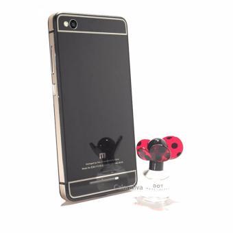 Calandiva Glossy Backcase Tempered for Xiaomi Redmi 3 List Gold - Hitam