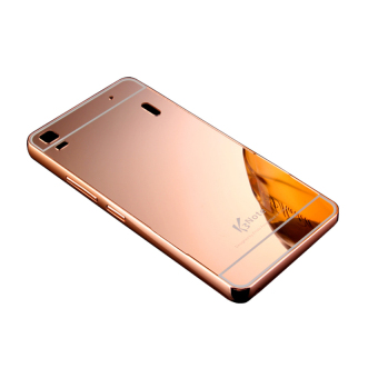 Case Aluminium Bumper Mirror for Lenovo A7000 - Rose gold