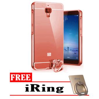 Case Aluminium Mirror Bumper for Xiaomi Mi 4 - Rose Gold