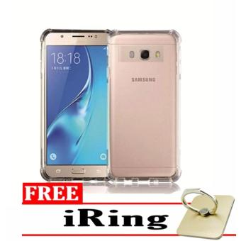 Case Anti-Crack for Samsung Galaxy J2 Prime TPU Softcase (Clear) +Free iRing