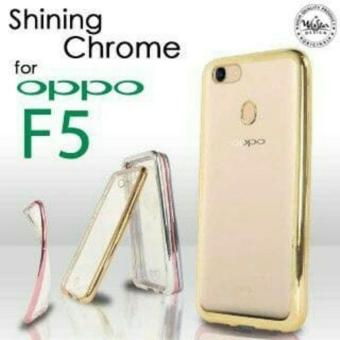 Case Anti Shock / Anti Crack Elegant Softcase for Oppo F5 - White Clear