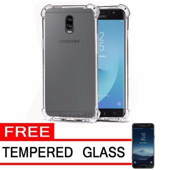 Case Anti Shock / Anti Crack Elegant Softcase for Samsung Galaxy J7 Plus - White Clear