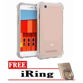 Case Anti Shock / Anti Crack Elegant Softcase for Xiaomi Redmi 4a - Clear + Free