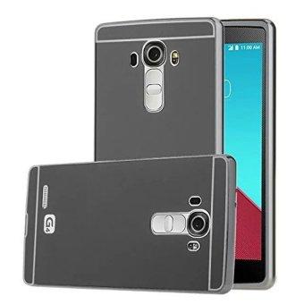 Case For LG G4 Stylus Bumper Slide Mirror - Black