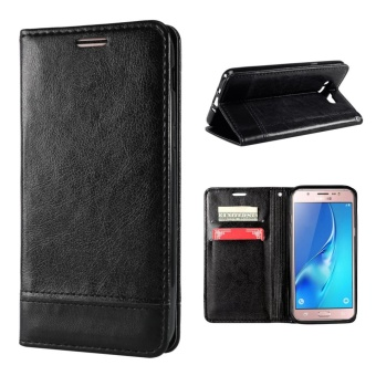 Case for Samsung Galaxy J5 (2016) J510 Leather Flip Stand Wallet Case Cover (