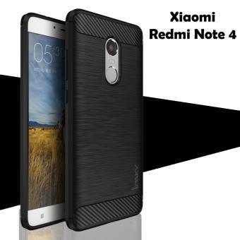 Case for Xiaomi Redmi Note 4 Ipaky Softcase Premium Texture Carbon Fiber CF TPU Silikon -