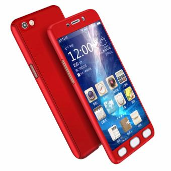 Case Front Back 360 Degree Full Protection for Oppo F1s / A59 - Red + Tempered