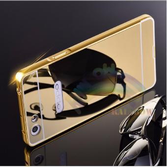 Case Oppo F1s Selfie Expert / A59 Alumunium Bumper With Sleding Mirror / Bumper Cermin -