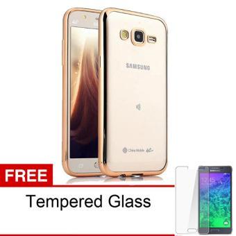 Case Ultrathin Shining Chrome Untuk Samsung Galaxy V / G313 - Gold - Free Tempered Glass