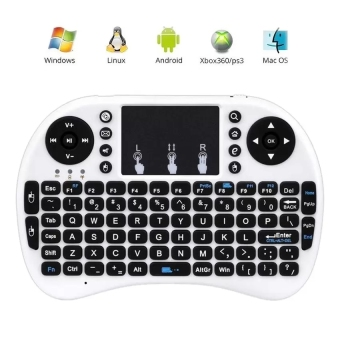 Coowalk Gaming 2.4G Mini Bluetooth Portable Wireless Keyboard withTouchpad Mouse Multi-media Handheld Android Keyboard (White) - intl