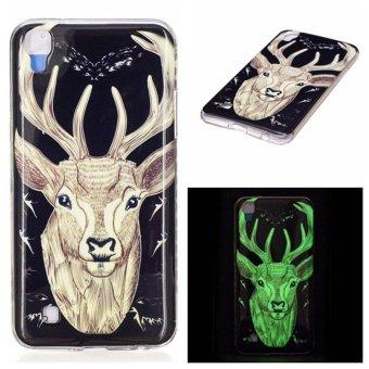Deer head Noctilucent TPU Soft Gasbag Back Case Cover For LG X Power Case - intl
