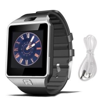 DZ09 Bluetooth Smart Watch Penopang SIM Kartu untuk Android/IOS Ponsel (Perak)-