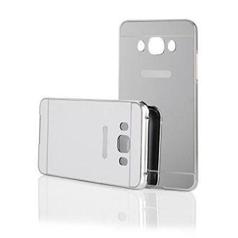 EastJava Hardcase Aluminium Bumper Mirror For Samsung Galaxy J5 2016 - Silver