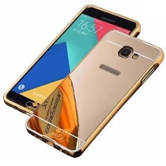 EastJava Hardcase Aluminium Bumper Mirror For Samsung Galaxy J5 Prime - Gold