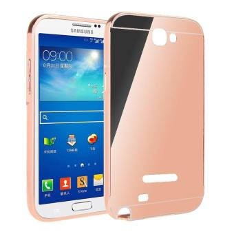 EastJava Hardcase Aluminium Bumper Mirror For Samsung Galaxy Note 1 - Rose Gold