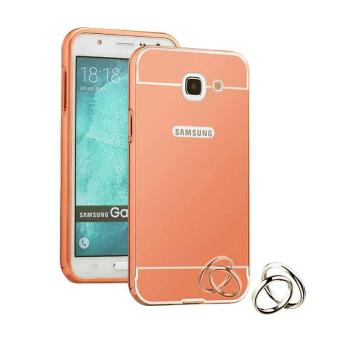 EastJava Hardcase Aluminium Bumper Mirror For Samsung Galaxy Note 2 - Rose Gold