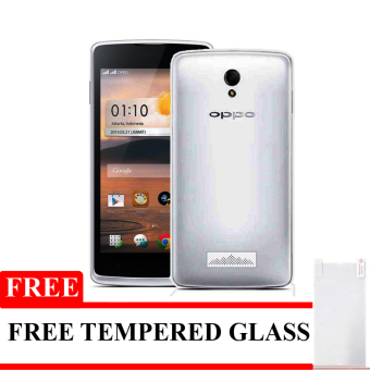 Elegant Aircase Ultrathin For Oppo Joy R1001 + Gratis Tempered Glass - Hitam Clear