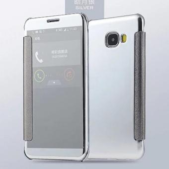 Case Samsung Galaxy J7 Prime Flipcase Flip Mirror Cover S View Transparan Auto Lock Casing Hp