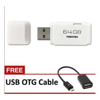 Flashdisk Toshiba Hayabusa 01020004410 Putih 64GB Free Kabel OTG