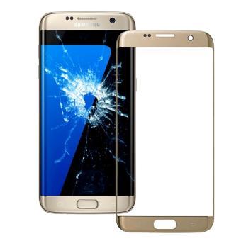untuk Samsung Galaxy S7 Edge G935F G935 Emas Penggantian Layar Kaca Depan LCD Lensa + Alat