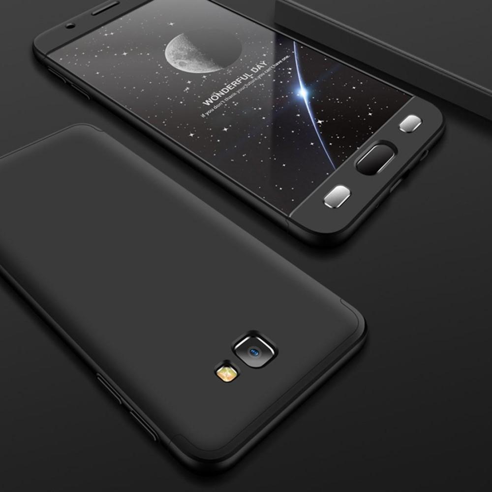GKK untuk Samsung Galaksi J7 Prime Tiga Paragraf 360 Derajat Cakupan Penuh Pelindung Buah Case Sampul