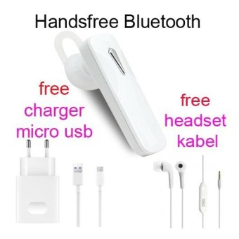 Handsfree Bluetooth+Hedset Kabel+Charger Usb For Oppo F1/F1s/F1s Plus