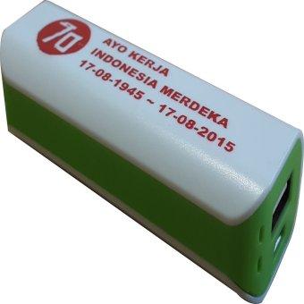 Jual 3T Power Bank Saku Spesial Edisi Merdeka - Putih-Hijau Harga Termurah Rp 99000. Beli Sekarang dan Dapatkan Diskonnya.