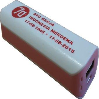Jual 3T Power Bank Saku Spesial Edisi Merdeka - Putih-Pink Harga Termurah Rp 99000. Beli Sekarang dan Dapatkan Diskonnya.