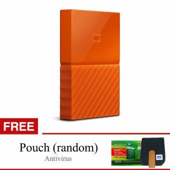 Jual Western Digital WD My Passport New Design 4TB 2.5 USB 3.0 - Oranye + Gratis Pouch + Antivirus