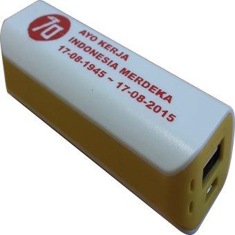 Jual 3T Power Bank Saku Spesial Edisi Merdeka - Putih-Kuning Harga Termurah Rp 99000. Beli Sekarang dan Dapatkan Diskonnya.
